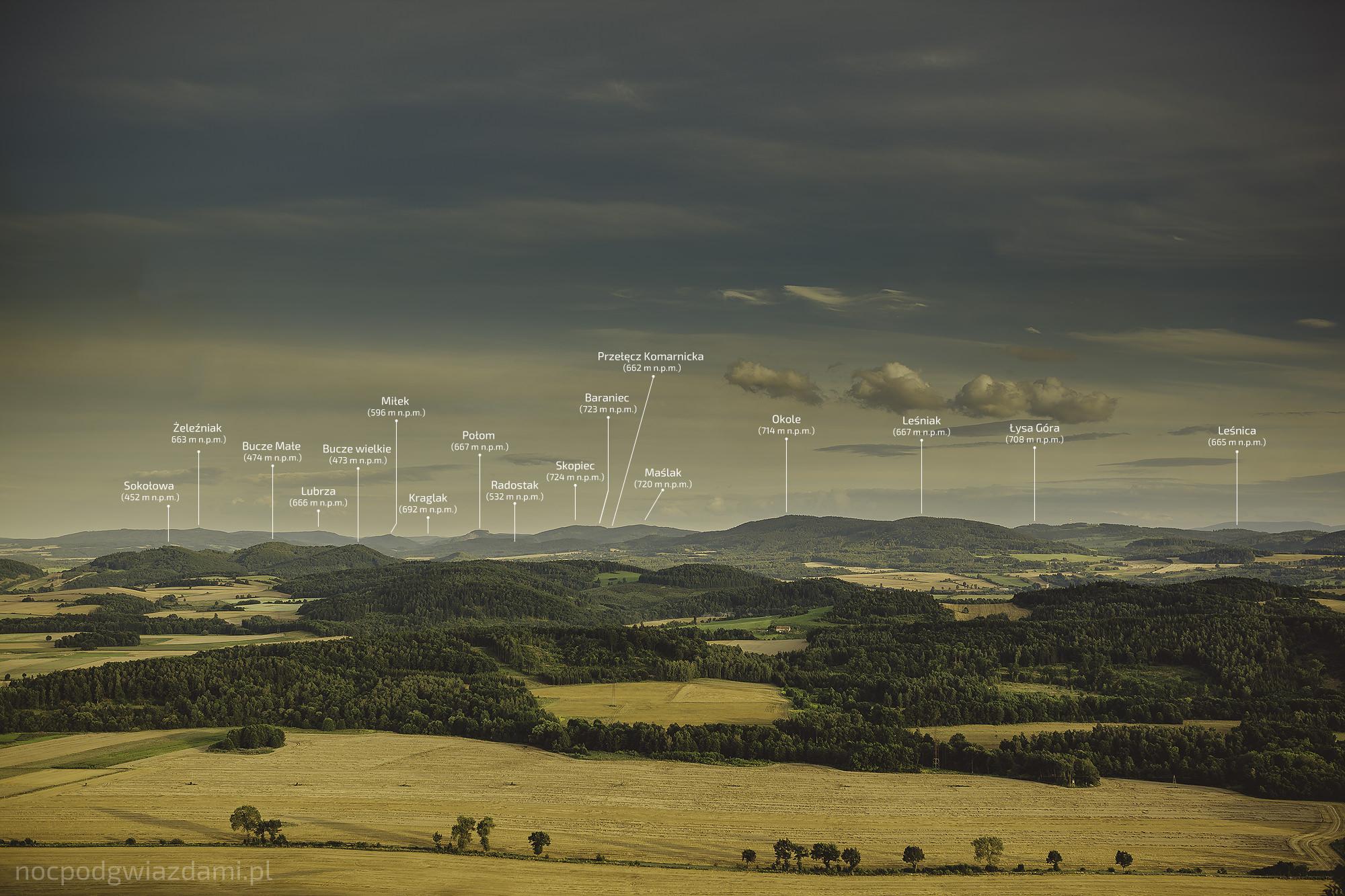 Panorama Gór Kaczawskich
